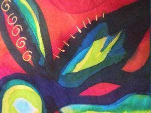 Silk scarf by janie Andrews