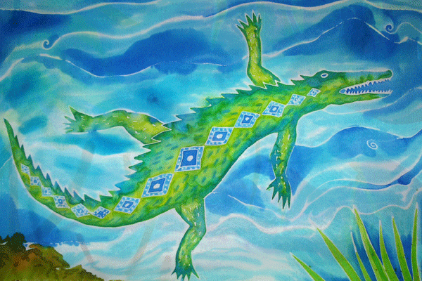 Janie Andrews crocodile