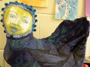 Siren Cushion by Janie Andrews
