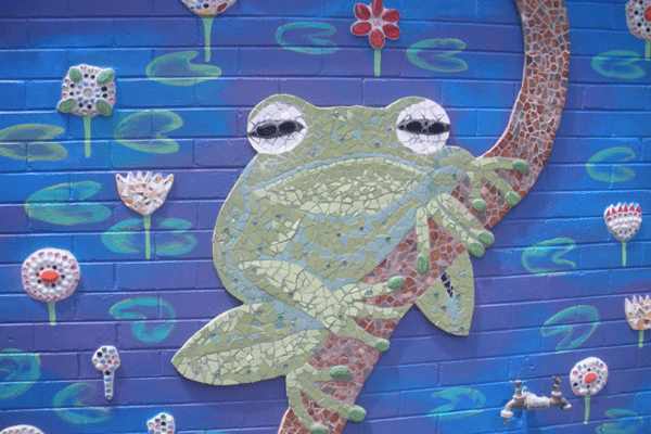 Janie Andrews green tree frog