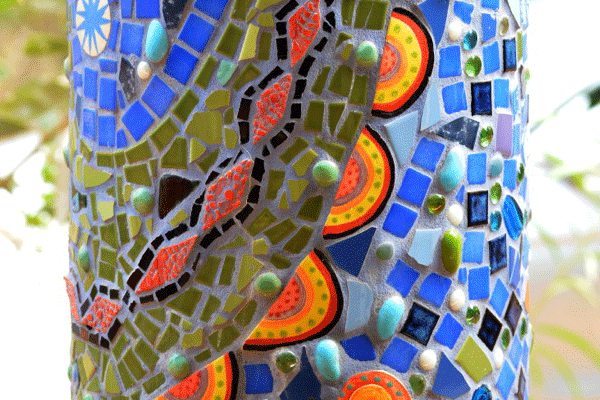 janie andrews crocodile pole detail