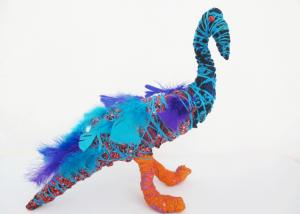 Janie Andres magpie Goose Sculpture