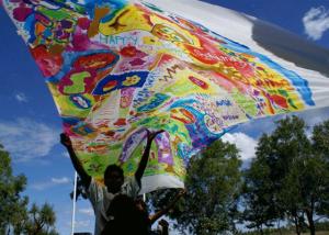 janie andrews TEGS silk banners
