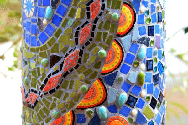 janie andrews crocodile pole detail